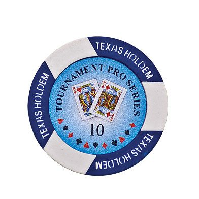 Texas Holdem chip blue (10), roll of 25