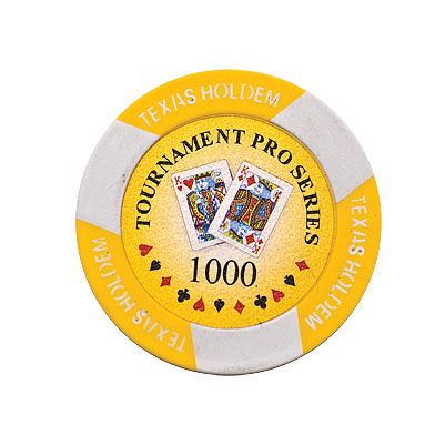 Texas Holdem chip yellow (1000), roll of 25