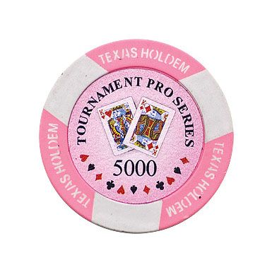 Texas Holdem chip pink (5000), roll of 25