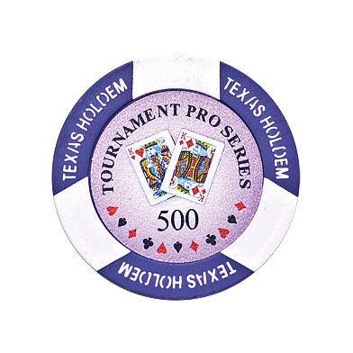 Texas Holdem chip purple (500), roll of 25