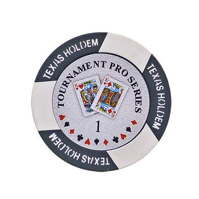 Texas Holdem chip gray (1), roll of 25