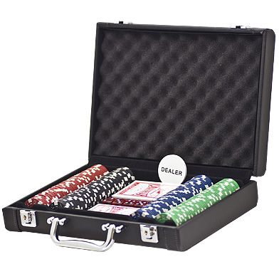 Leather look cases with 200 Dice Chips set