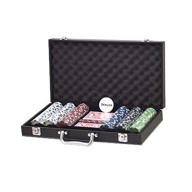 Leather look cases with 300 Dice Chips set