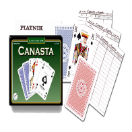 Canasta Playing Cards set incl. scoresheets