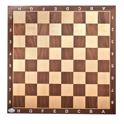 Chessboard Walnut with numbers & letters 55/55/1.75 cm