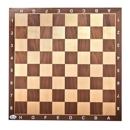 Chessboard Walnut with numbers & letters 45/50/1.5 cm