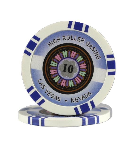 High Roller chip blue (10), roll of 25