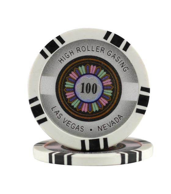 High Roller chip black (100), roll of 25
