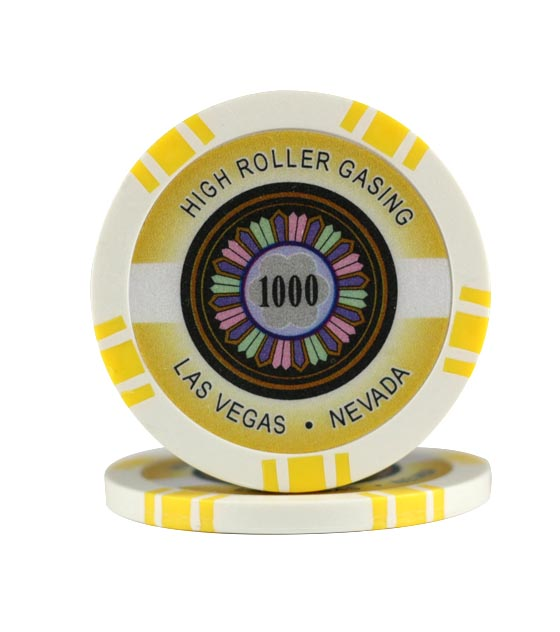 High Roller chip yellow (1000), roll of 25