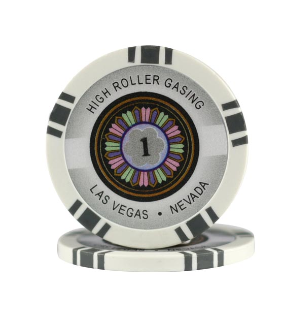 High Roller chip gray (1), roll of 25