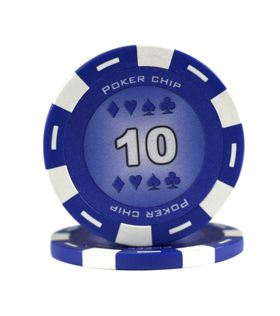 Poker Chip blue (10), roll of 25