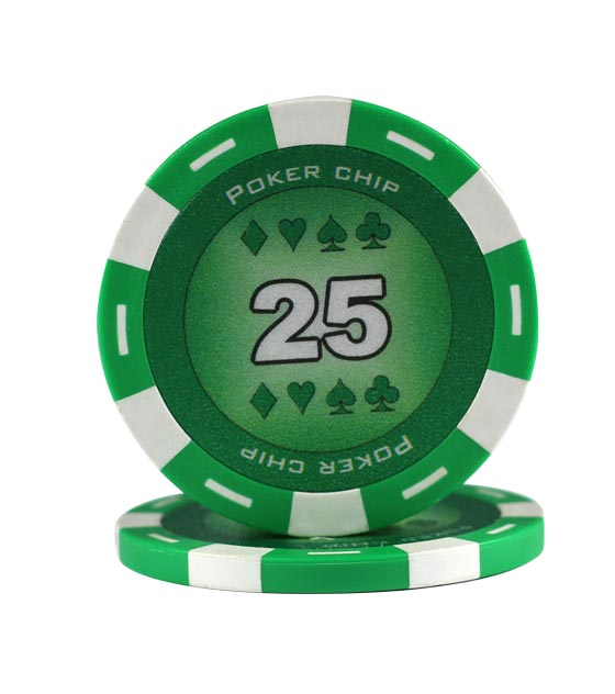 Poker Chip green (25), roll of 25