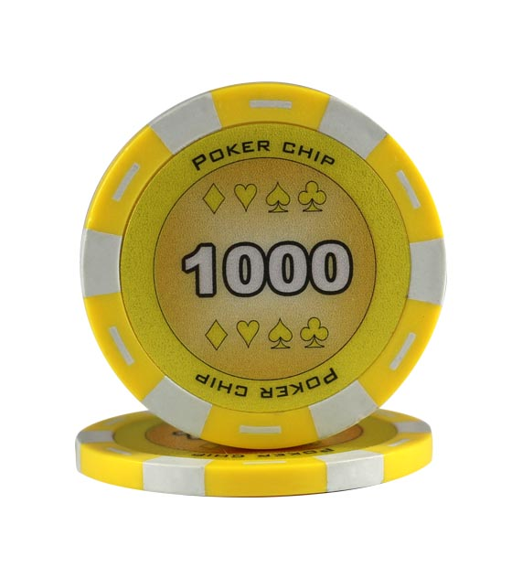 Poker Chip yellow (1000), roll of 25