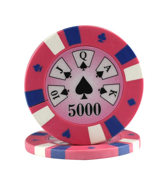 3-color clay chip pink (5000), roll of 25