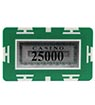 Rectangle Poker Chip with Value - 25.000 Green