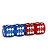 Precision Dice 16 mm set of 4 – Blue/Red