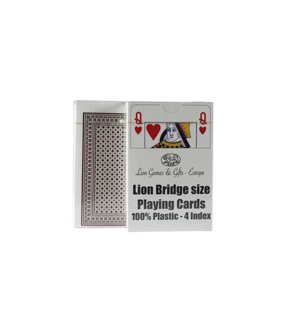100% Plastic Lion Playing Cards