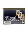 Floral Patience Playing Cards Set  (gold box)
