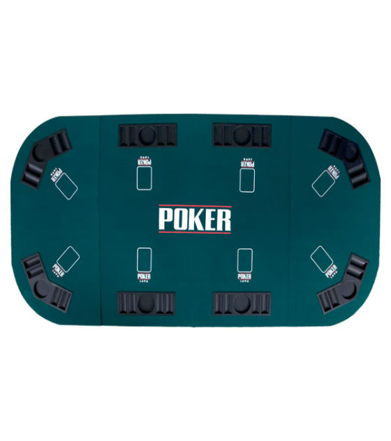 Deluxe 4-folding Poker Table Top for 8 Players, 180*90 cm