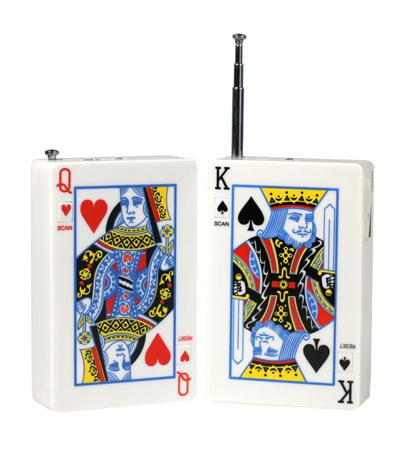 Playing Cards Radio - King of Spades / Queen of Hearts