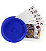 Round Playing Cards Holder, blue