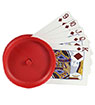 Round Playing Cards Holder, red