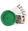 Round Playing Cards Holder, green