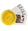 Round Playing Cards Holder, yellow