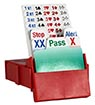 Partner Bidding Boxes, RED - Set of 4