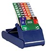 Lion Club Bidding Device with Cards (Set of 4, Blue)