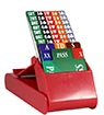 Lion Club Bidding Device with Cards (Set of 4, Red)