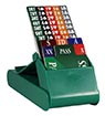 Lion Club Bidding Device with Cards (Set of 4, Green)