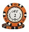 Monte Carlo clay chip orange (2), roll of 25
