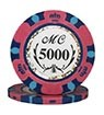 Monte Carlo clay chip pink (5000), roll of 25