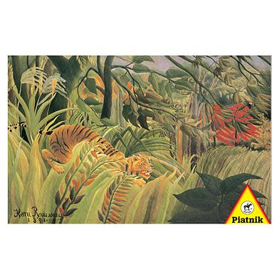 "Rousseau - ""Tiger in a Tropical Storm"" / ""Surprised"""